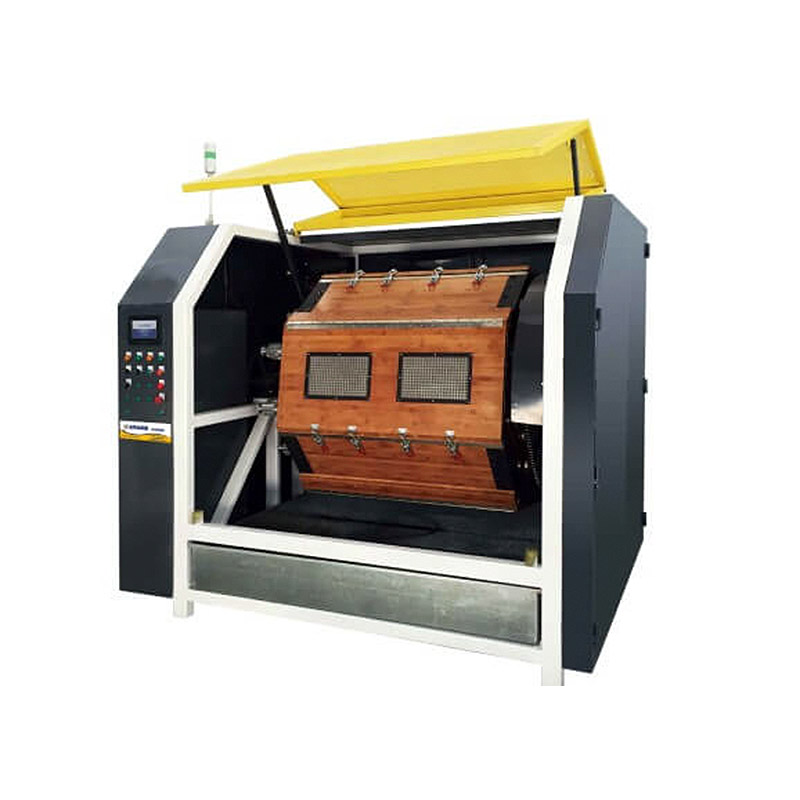 RB480 Big Wooden Rotary Barrel Tumbling Machine